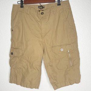 Helix Multi Pocket Khaki Shorts Size 34